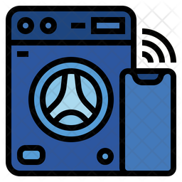 Washing machine Colored Outline Icon