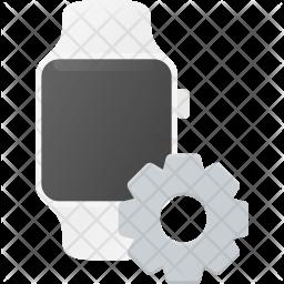 Watch setting Flat Icon