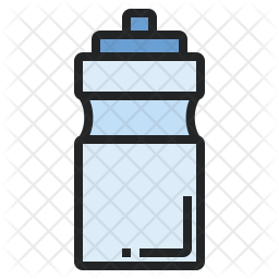 Water bottle Colored Outline Icon