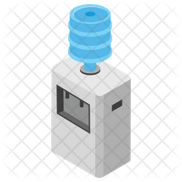 Water Dispenser Isometric Icon