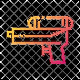 Water Gun Gradient Icon