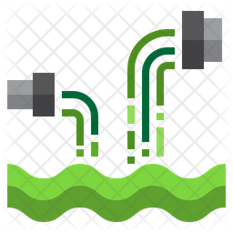Water Pollution Flat Icon