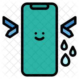 Water Resistnt Colored Outline Icon