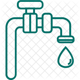 Water Tap Line Icon