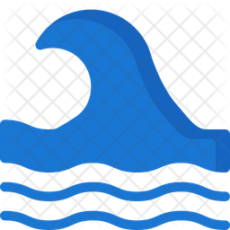 Water waves Flat Icon