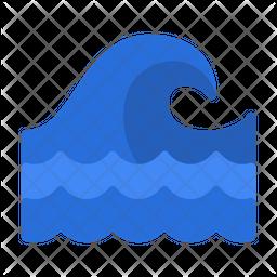 Wave Flat Icon