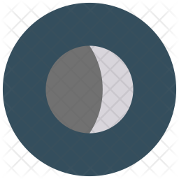 Waxing crescent Icon
