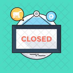 We Are Closed Icon