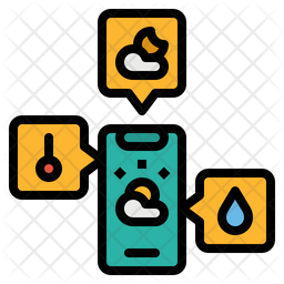 Weather Application Colored Outline Icon