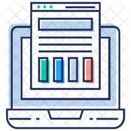 Web Analysis Colored Outline Icon