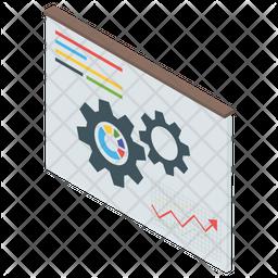 Web analytics Isometric Icon