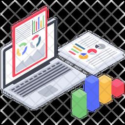 Web Analytics Report Icon