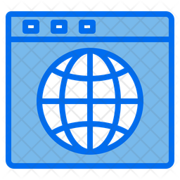 Web Browser Colored Outline Icon
