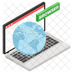 Web Browser Isometric Icon