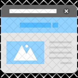 Web Browser Flat Icon