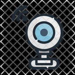 Web Camera Colored Outline Icon