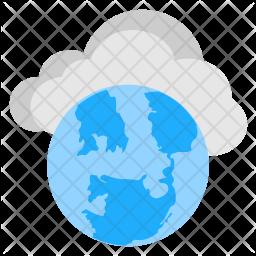 Web Cloud Storage Flat Icon