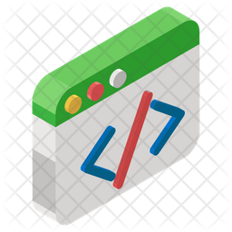 Web Coding Isometric Icon