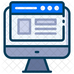 Web concept Colored Outline Icon