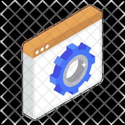 Web Configuration Isometric Icon