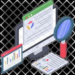 Web Data Analysis Icon