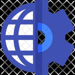 Web, Developement, Gear, Global, Setting Icon
