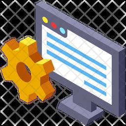 Web Development Isometric Icon