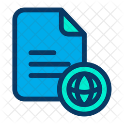 Web Document Icon Of Colored Outline Style Available In Svg Png Eps Ai Icon Fonts