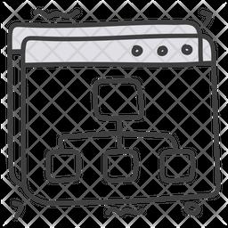 Web Flowchart Icon