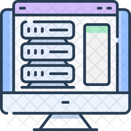 Web hosting and ftp Icon