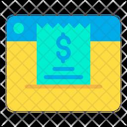 Web Invoice Icon