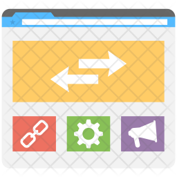 Web Links Optimization Icon