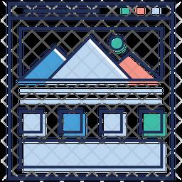 Web Mountain Graph Icon