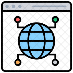 Web Network Colored Outline Icon