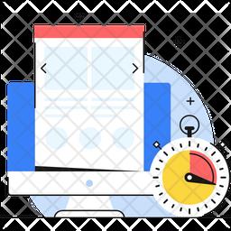 Web Optimization Colored Outline Icon