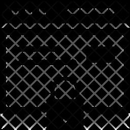 Web Page Locker Glyph Icon