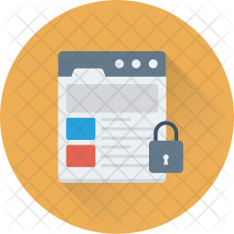 Web page Security Flat Icon