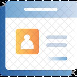 Web Profile Page Icon