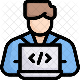 Web Programmer Colored Outline Icon
