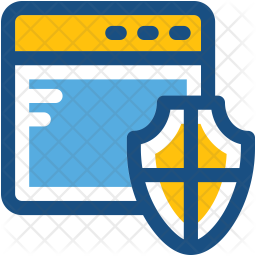 Web Protection Colored Outline Icon