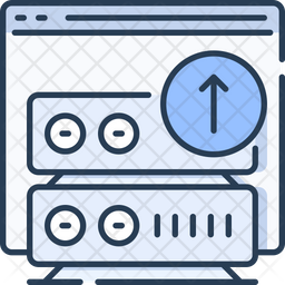 Web server upload Icon