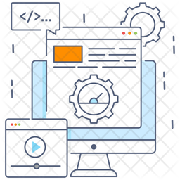 Web Speed Colored Outline Icon