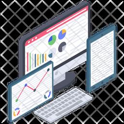 Web Statistics Vector Icon