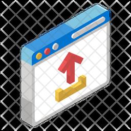 Web Uploading Isometric Icon