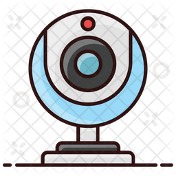 Webcam Colored Outline Icon