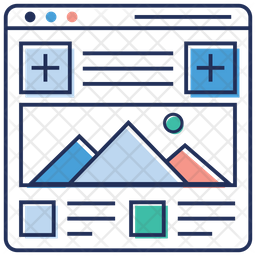 Webpage Colored Outline Icon