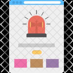 Webpage Alert Icon