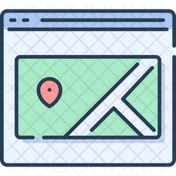 Webpage Map Popup Icon