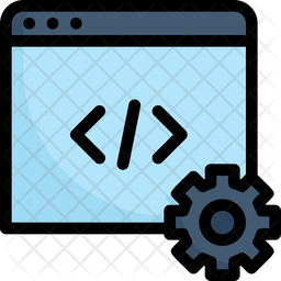 Website Coding Colored Outline Icon