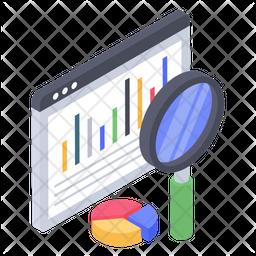 Website Data Analysis Isometric Icon